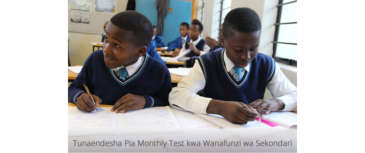 Monthly Test @SwahiliAcademy