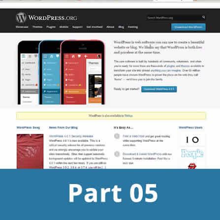 Creating wordpress website - part 5