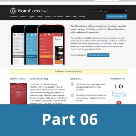 Creating wordpress website - part 6