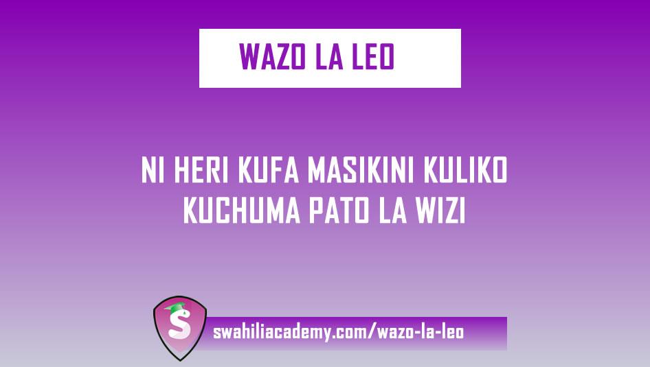 Wazo La Leo - Namba 12
