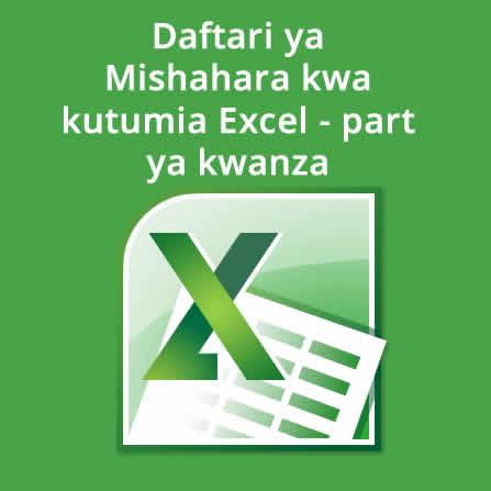 Daftari ya mishahara kwa kutumia Excel